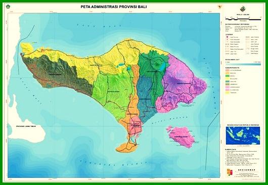 Peta Administrasi Bali