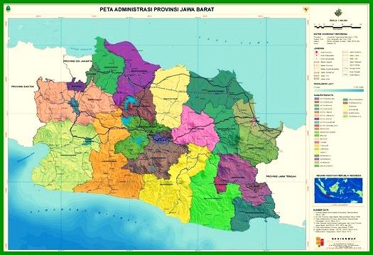 Peta Administrasi Jawa Barat