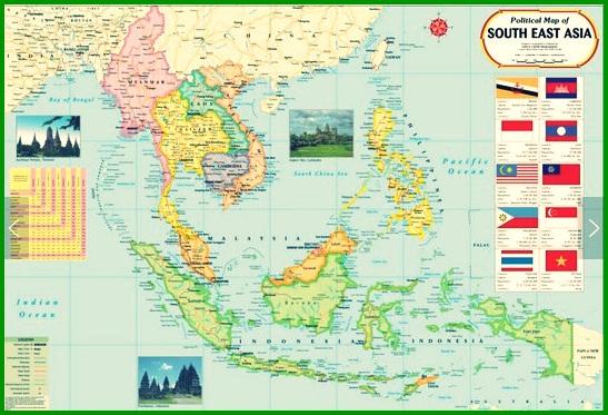 Peta Asia Tenggara Lengkap