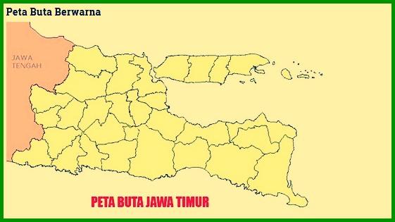 Peta Buta Berwarna Jawa Timur