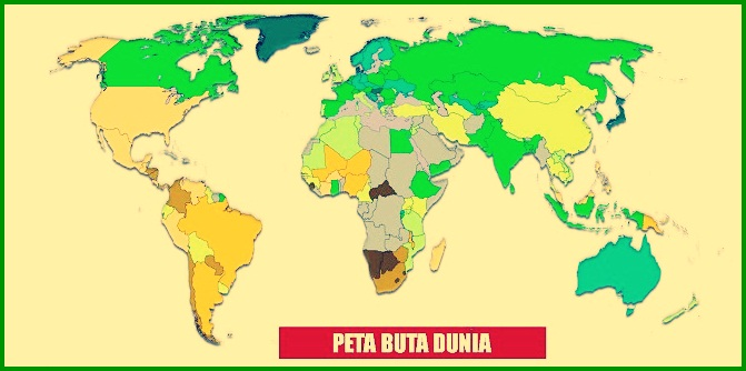Peta Buta Dunia Berwarna