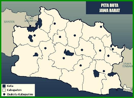 Peta Buta Hitam Putih Jawa Barat