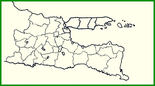 Peta Buta Hitam Putih Jawa Timur