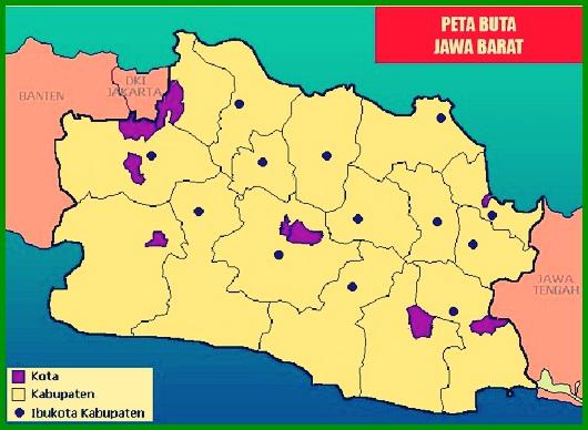 Peta Buta Jawa Barat
