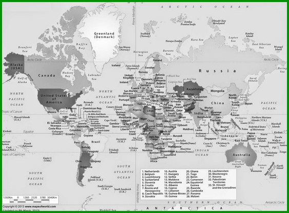 Peta Singapura Hitam Putih Doylc Asia