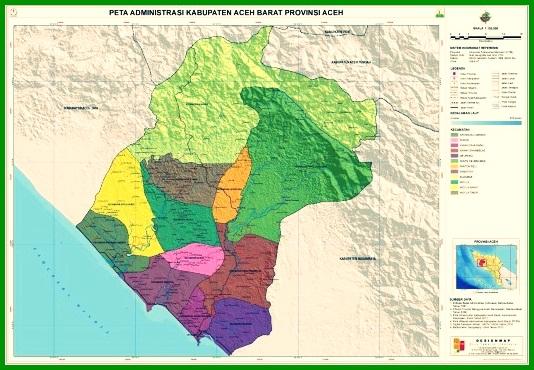 Peta Kabupaten Aceh Barat