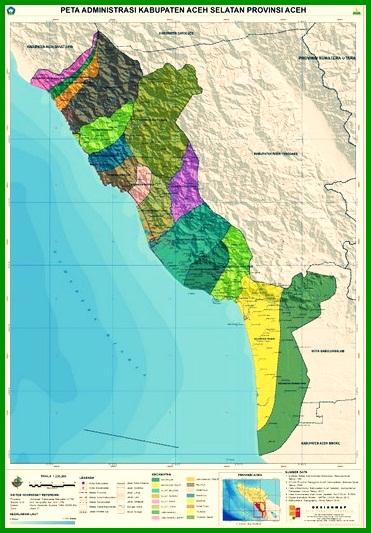 Peta Kabupaten Aceh Selatan