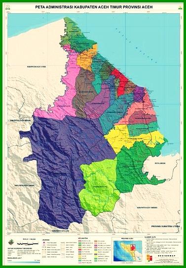 Peta Kabupaten Aceh Timur