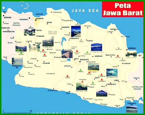 Peta Pembagian Administratif Jawa Barat