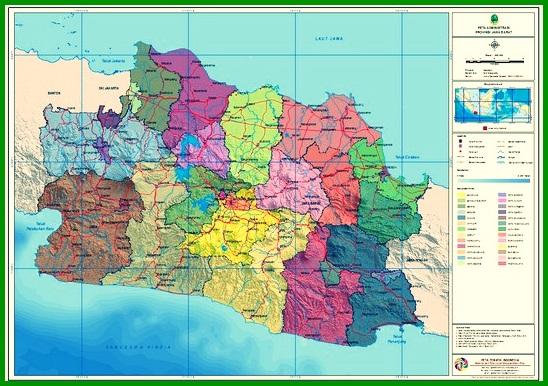 Peta Topografi Jawa Barat