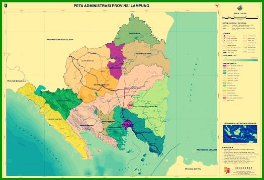 Peta administrasi provinsi lampung