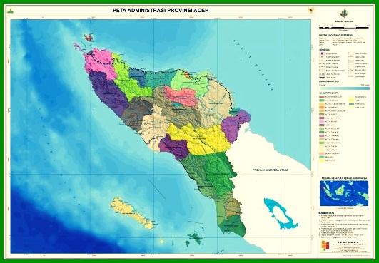 Peta Administrasi Aceh