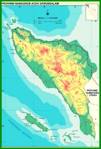 Peta Buta Provinsi Aceh