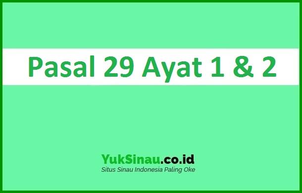 Pasal 29 Ayat 1