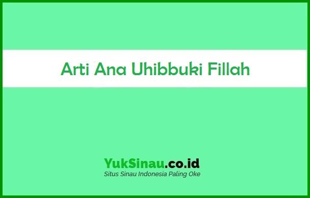 Ana Uhibbuki Fillah Artinya