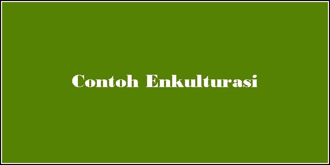 Contoh Enkulturasi