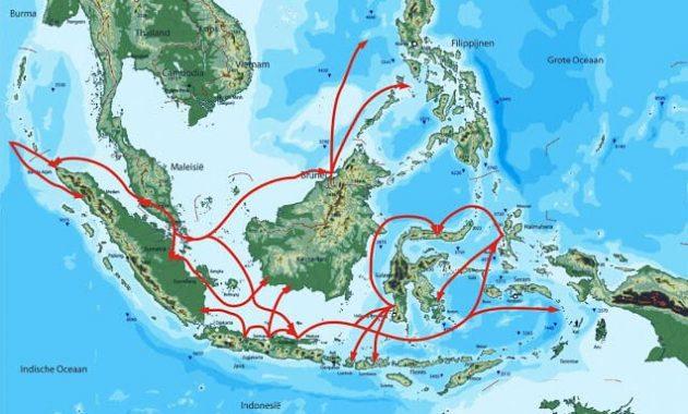 Peta Persebaran Nenek Moyang Bangsa Indonesia Proto Deutro Melayu