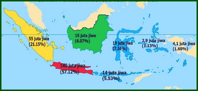 Peta Persebaran Penduduk di Indonesia