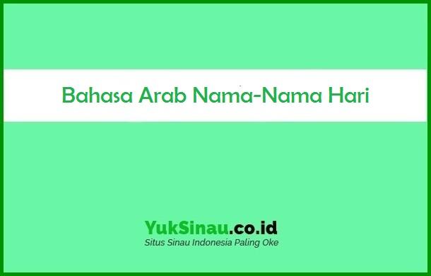 Bahasa Arab Nama Nama Hari