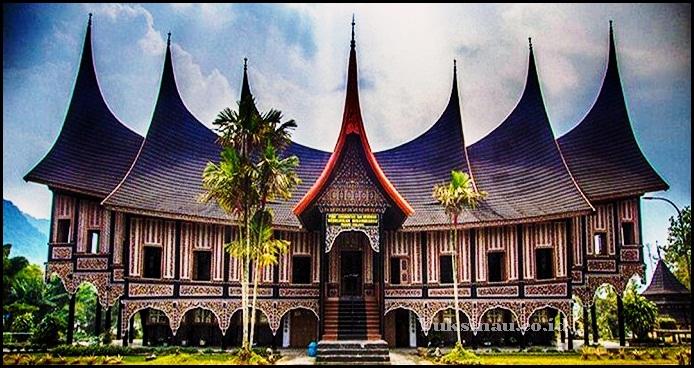 Rumah Adat Sumatera Barat Nama Gambar Dan Maknanya