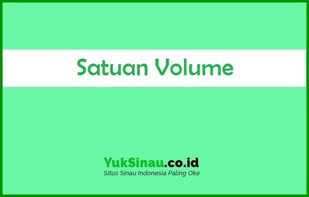 Satuan Volume