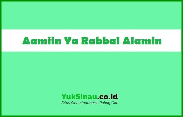 Aamiin Ya Rabbal Alamin