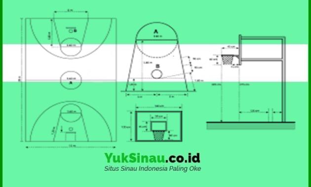 Ukuran Lapangan Bola Basket Beserta Penjelasannya Dan Gambarnya
