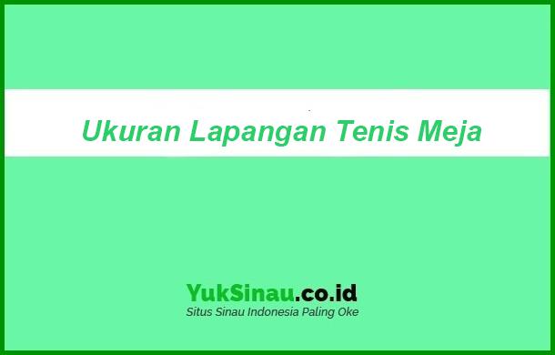 Ukuran Lapangan Tenis Meja Beserta Penjelasannya Dan Gambarnya