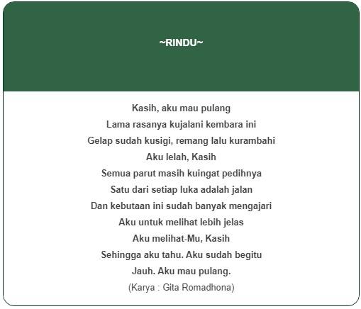 Contoh Isi Puisi