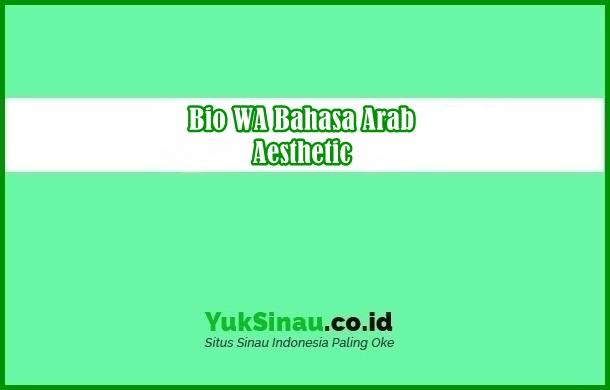 Bio WA Bahasa Arab Aesthetic