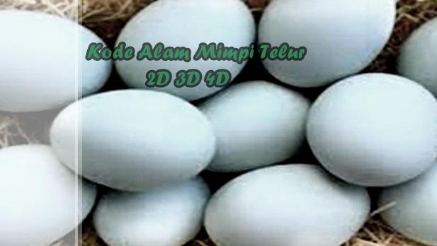 Kode Alam Mimpi Telur